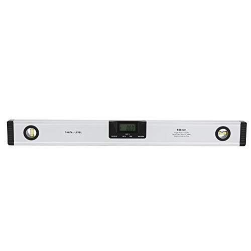 Digitaal niveau, aluminiumlegering 600 mm 0,05 ° hoge precisie magnetische niveau liniaal Digitaal meetinstrument(Without Las-er)