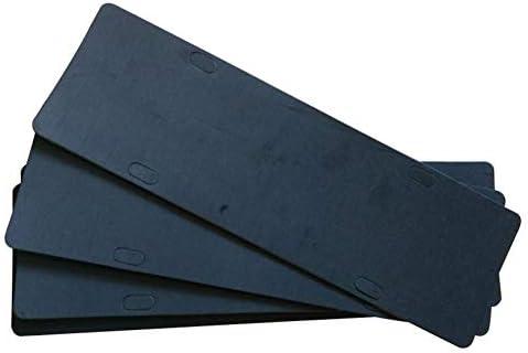 Hopq Black 4 Holes Stoßfeste Anti Vibrations Kfz Kennzeichenhalter Bumper Foam Sticker Auto