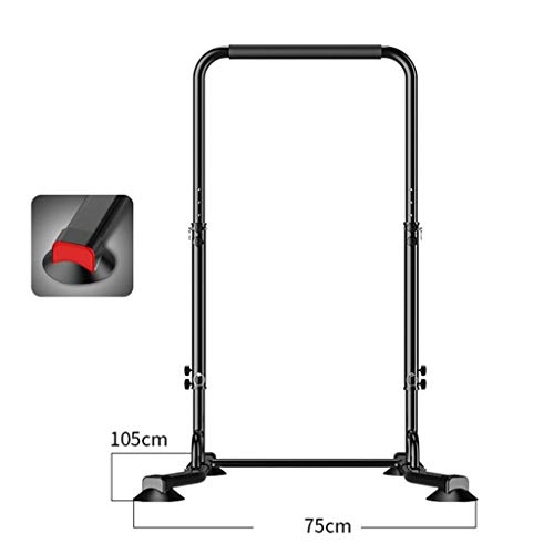 Dip Stands Dip Stands Pull Up Bar Multifunctional Single Parallel Bars Indoor Pull-ups Height Adjustable (Color : Black, Size : 75 * 220-180cm)