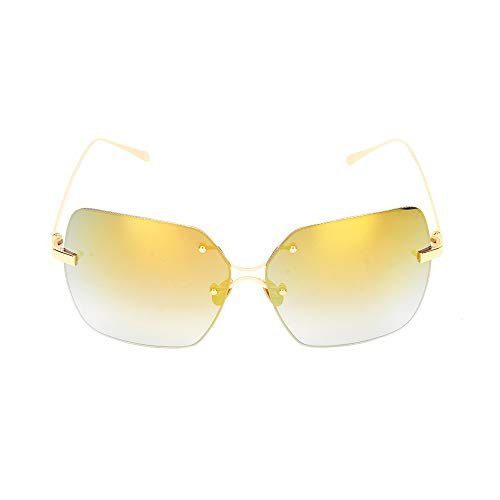 Kaper Go Gafas De Sol De Oro Púrpura Moda Moda Color Salvaje Película Gafas De Sol (Color : Gold)