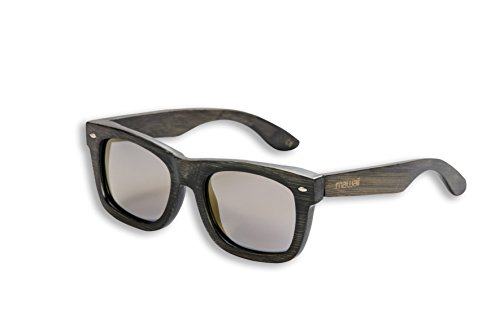 Mawaii Modell Kaha Ora Gold Polarized Lenses Fgv (Feel Good Vision) Inkl. Bambus-Box Und Mikrofaserbeutel Sonnenbrille, grau-Braun, L