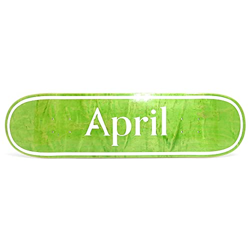 APRIL DECK エイプリル デッキ TEAM OG LOGO INVERT GREEN STAIN 8.25 スケートボード スケボー