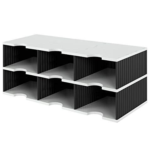 styrodoc Sortierstation trio Jumbo mit 6 Fächern/268032298 grau/schwarz