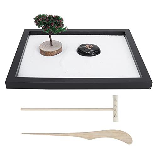 Cyrank Kit Giardino Zen per scrivania, Decorazione da Meditazione Giardino Zen Giapponese con Set Regalo Mini Buddha per l'arredamento dell'ufficio Domestico