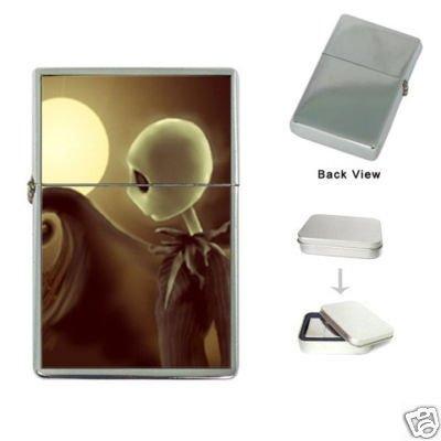New Product JACK SKELLINGTON NIGHT TIM BURTON Flip Top Cigarette Lighter + free Case Box