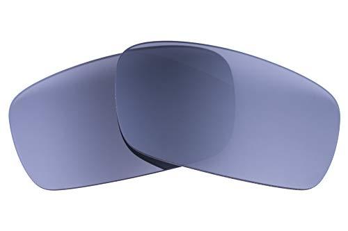 LenzFlip Lentes compatibles con cigüeñal Oakley para hombre 61 mm flash de plata