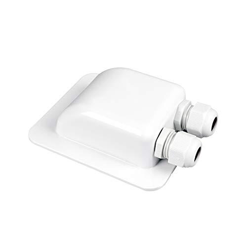 enjoysolar® ABS Haltespoiler Solarmodul Halterung sepzial für Wohnmobile Caraven Boot (2-Fach Dachdurchführung)