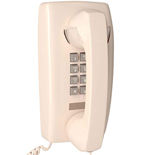 Home Intuition Amplified Single Line Corded Wall Mounted Telephone with Extra Loud Ringer, Ash