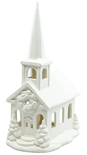 Church Lantern for The Holidays - Paint Your Own Ceramic Keepsake
