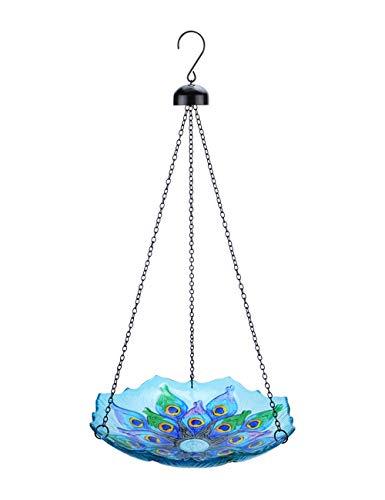MUMTOP Hanging Bird Bath Glass BirdbathsFlower Birdbath for Garden,Yard,Patio Decoration
