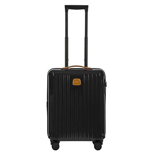 Bric's Capri Laptop Rollkoffer, 55 cm, Schwarz (Black/Brown)