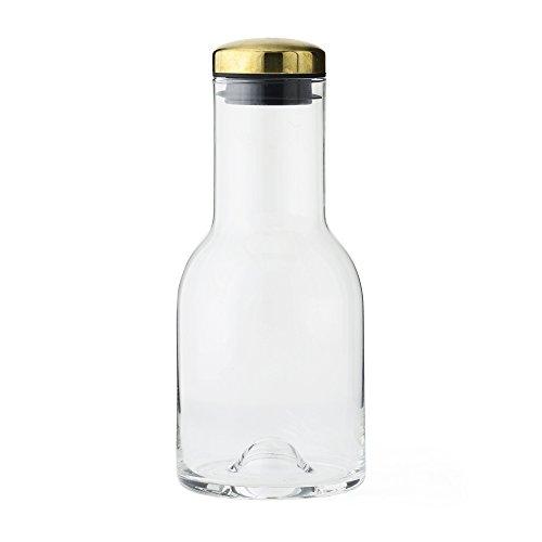 Menu 4681839 Wasserflasche, 500 ml, mit Messingdeckel, Glas, transparent