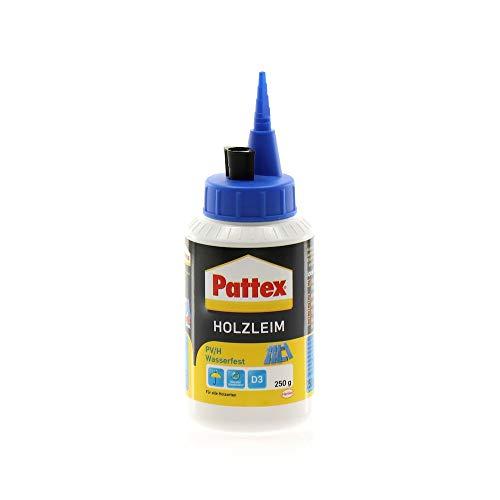 PATTEX 1487021 PV/H Wasserfest Holzleim D3 250g, Weiß