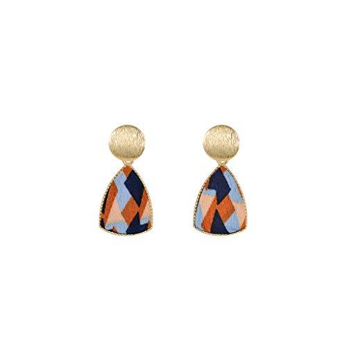 ZRJ Pendientes Pendiente para Mujeres Pendientes de Tachuelas de Cobre Pendientes Elegantes Pendiente para Niñas Cualquier Joyería (Color : A)