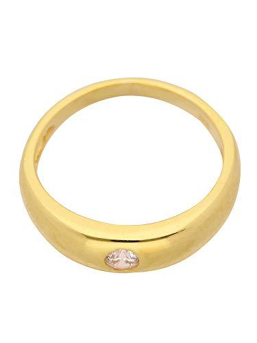 Oro battesimo ciondolo a forma di anello con zirconi in oro giallo 585 (3 x 11,2 Ø mm)