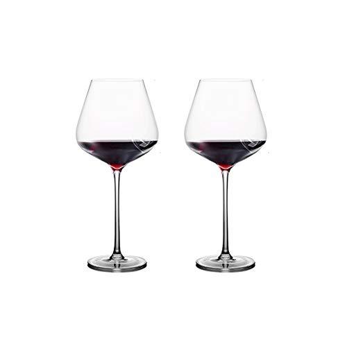 SFF Copas de Vino Conjunto de Copas de Vino Tinto Transparente de 2 Copas de Vino Grandes Plomo para Beber Cristalería de Cristal de Cristal de Cristal 860ml / 29oz Cristal (Color : Clear)