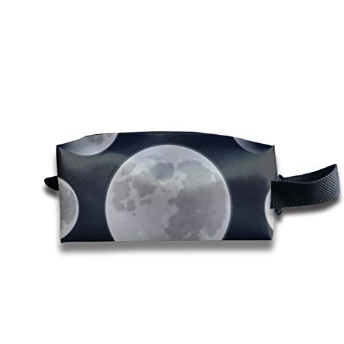 Moon Phase Travel Makeup Cosmetic Case,Portable Brushes Case Toiletry Bag Travel Kit Organizer Cosmetic Bag