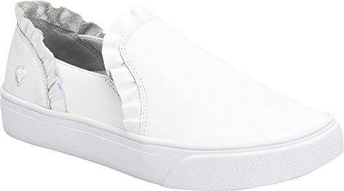 Nurse Mates Farrah White Women's Slip on Shoes