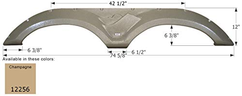 ICON 12256 Tandem Axle Fender Skirt FS2256 for Keystone - Champagne