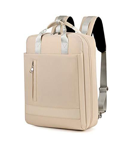 WILBIA Mochila para computadora portátil, mochila escolar de viaje de ocio impermeable de 15.6 pulgadas con puerto de carga USB, adecuada para hombres y mujeres que estudian y trabajan(Beige)