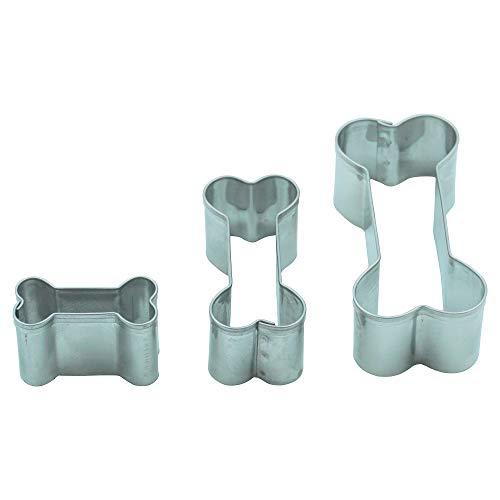 Ausstechformen für Kekse aus Edelstahl, Form: Knochen, 3er Set