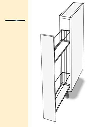 Premium-Ambiente ASTUVWEPEPA329 Unterschrank Apothekerschrank Vollauszug Softclosing EURODEKOR® (Breite 18cm, 53 Vanillegelb)