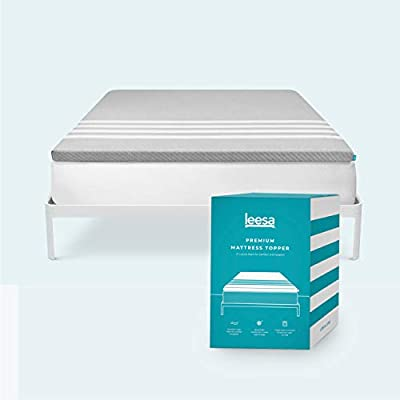Leesa Cooling Foam Mattress Topper in a Box, With Washable Cover, King Size