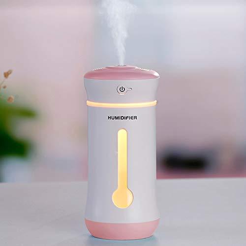 WARM home Casa Atomizzatore Elettrico Multifunzione USB 3 in 1, capacità: 300 ml, Materiale: ABS, PP, umidificatore a Nebbia Fredda con aromaterapia ad ultrasuoni. Donare (Colore : Rosa)