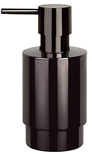 Spirella Premium Seifenspender Nyo in edlem Design | Flüssigseifen-Spender aus Edelstahl | Fassungsvermögen: 200ml | ØxH: 6,5 x 14 cm | Schwarz