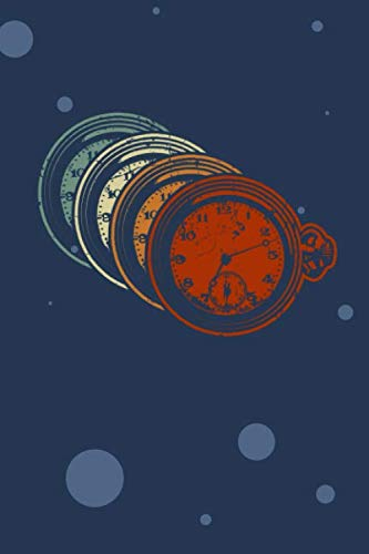 SKIZZENBUCH: 70er Liebhaber Notizbuch Blanko A5 - 120 Seiten für Notizen Skizzen Zeichnungen - 70er Disko Geschenk für Retro Liebhaber Vintage Liebhaber - Vintage Taschenuhr Notizheft Antike Uhr