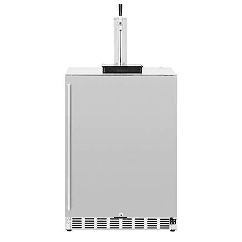 Summerset 25-Inch 6.6 Cu. Ft. Outdoor Rated Single Tap Beer Dispenser/Kegerator - SSRFR-24DK1