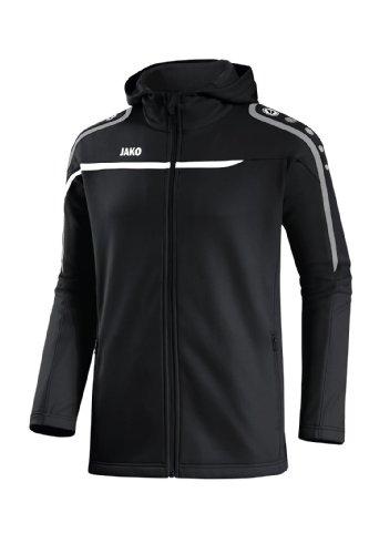 JAKO Veste à capuche Performance pour femme - Multicolore - Noir/blanc/gris - Taille 40