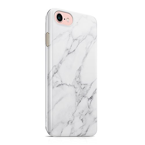 "Capa uCOLOR compatível com iPhone 6S 6 iPhone 8/7 SE (2020) Capa protetora fina macia TPU silicone à prova de choque compatível com iPhone 6s/6/7/8/SE 2 (4,7""), White Gray Marble"