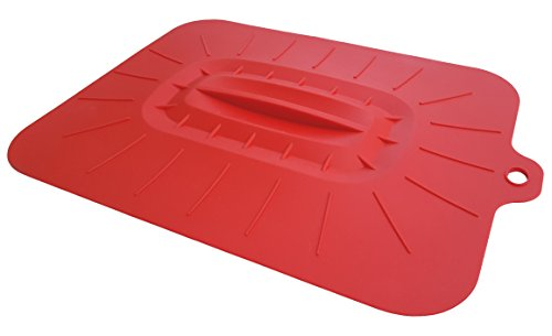Cellini Silicone Casserole Dish Lid Cover - Extra Large, Rectangular, Oven Safe (Red)