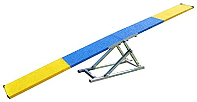 Cool Runners 12' Aluminum and Steel Dog Agility Teeter with Rubber Skin