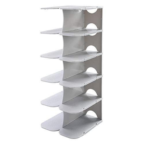 WXZXJ Schuhregal horizontal und vertikal Kombination Schlafsaal Schlafzimmer Lagerregal 6 Tier (Farbe : A)