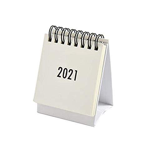 RDJSHOP 2021ミニデスクトップスモールデスクカレンダーフレッシュでポータブル、習得が容易耐久性のあるラーニングプランナー実用的な折りたたみ式トライアングルデスクノートブックホームオフィス目標日記デスクトップカレンダー