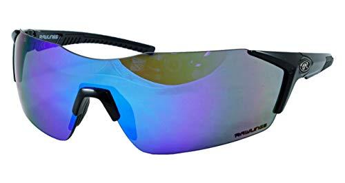 Rawlings RY 1801 Youth Sunglasses Rimless Boys Black/Blue Mirror 10241765.QTM
