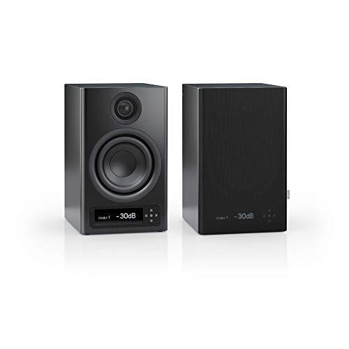 Nubert nuPro X-3000 RC Regallautsprecherpaar | Bluetooth Lautsprecher aptX HD | Lautsprecher Verbindung kabellos High Res | Aktivboxen mit 2 Wegen | High End Kompaktlautsprecher Schwarz | 2 Stück