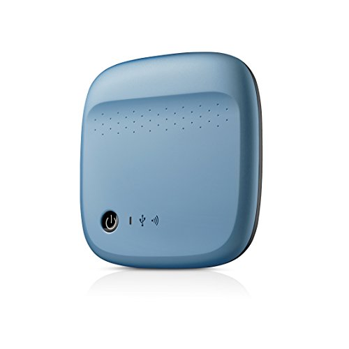 Seagate Wireless Mobile Portable Hard Drive Storage 500GB STDC500400 (Blue)