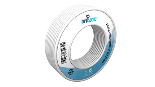Bricable BC22216608 - Cable para alarmas, interfonos y porteros electrónicos, Color Blanco