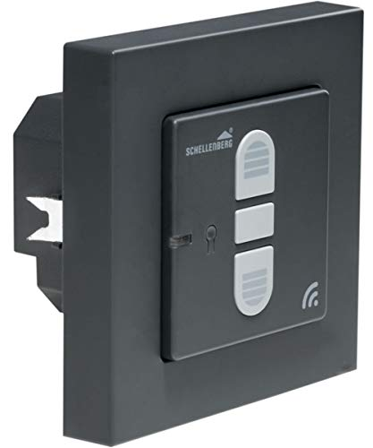 Schellenberg 21007 Home - Interruptor inalámbrico para persianas e Interruptor de Cortina (rearmable, para accionamiento Inteligente), Color Gris