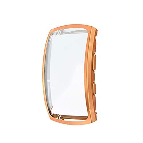 Liluyao Protector de Pantalla de Reloj Inteligente For Samsung Gear Ajuste del Reloj del Caso de TPU Chapado 2 Pro Cobertura Completa (Color : Rose Gold)