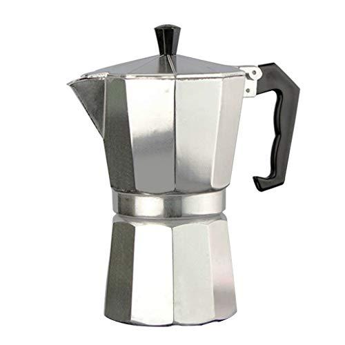 Youlin - Cafetera italiana INOX, cafetera italiana Express de aluminio, con asa (S)