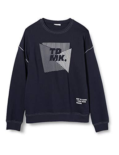 NAME IT Jungen NKMNOFUS LS Sweat BRU Pullover, Dark Sapphire, 134-140