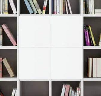 Bois & Design Porte pour étagère étagère Cube bibliothèque Blanc frassinato