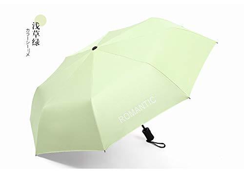 Eenvoudige kleine heldere mode 8 botten automatische zonnecrème paraplu paraplu student paraplu