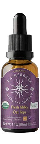 Ra Herbals Certified Organic Fresh Milky Oat Tops Liquid Extract for Nervous System Support - 1 Ounce
