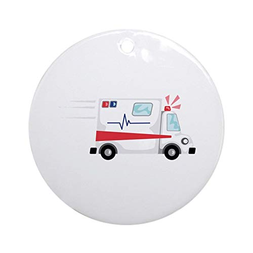 Fast Ambulance Christmas Hanging Ornament (Round) Made in USA