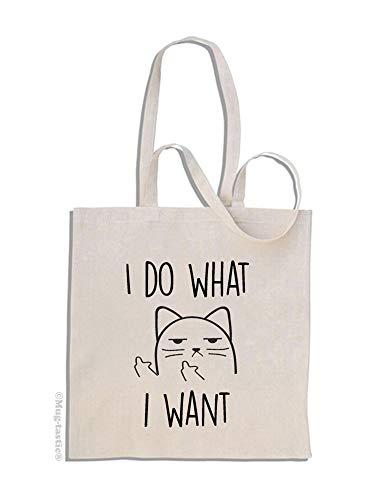 I Do What I Want - Chat Impoli Cat - Sac à Provisions en Coton